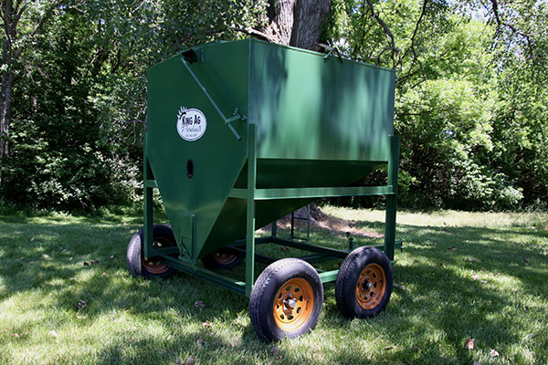 Portable Feed Storage Bins : Product line king ag products