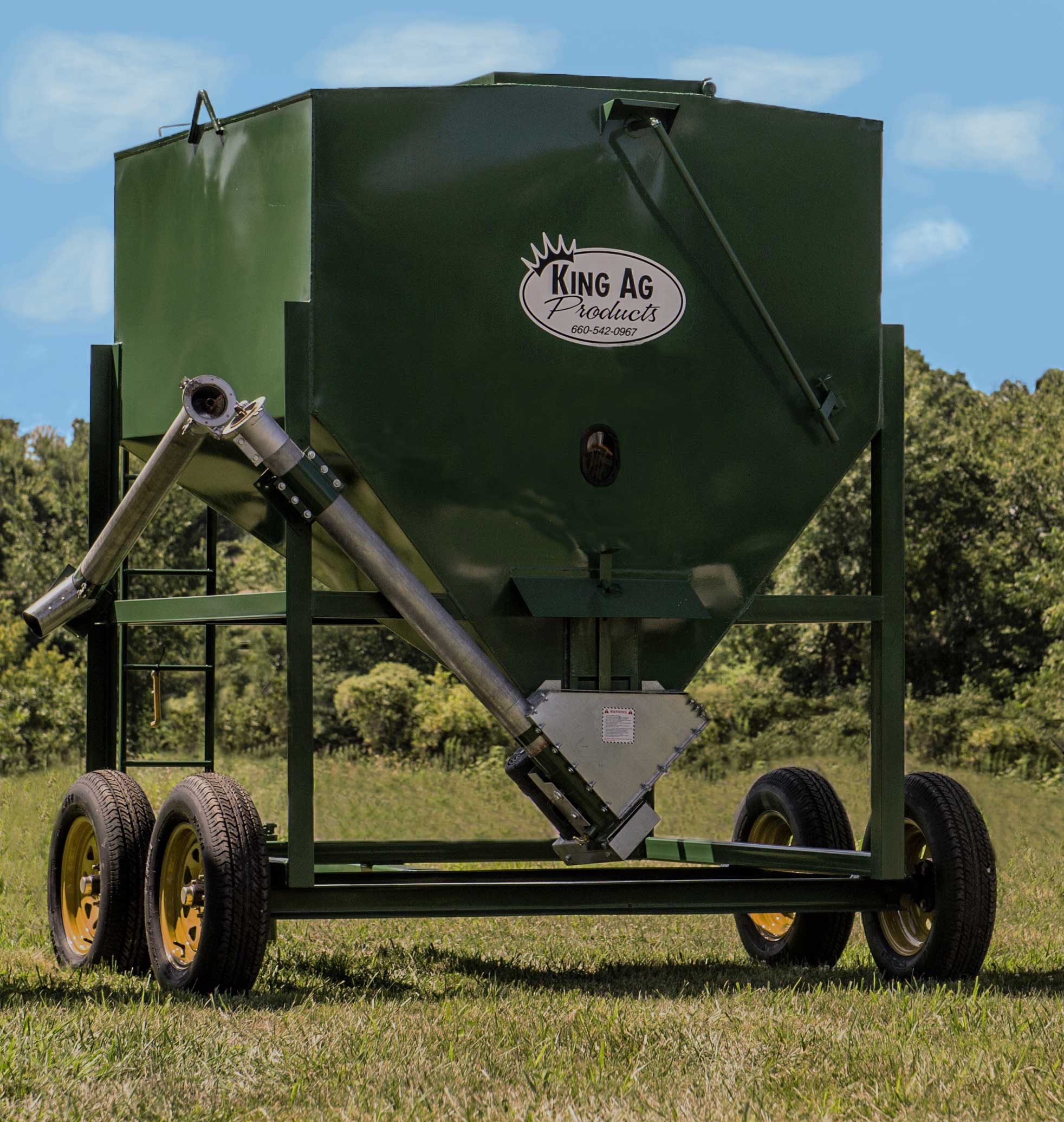 Portable Bulk Bin with Augers